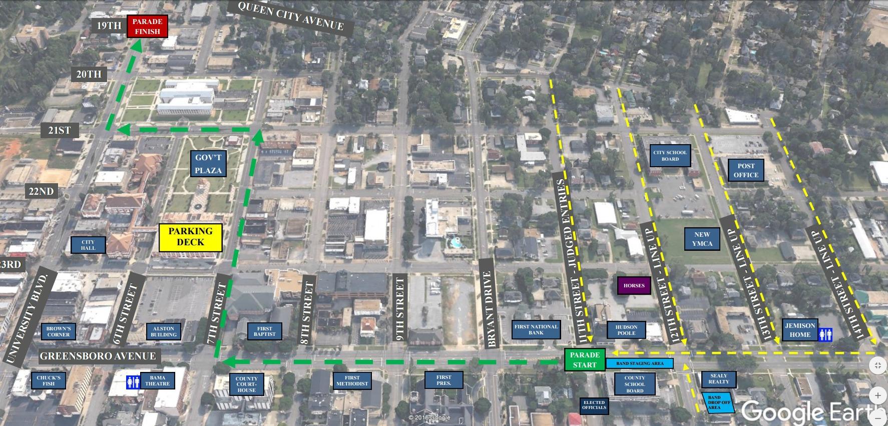 West Alabama Christmas Parade Announces New Route for 2016 [MAP